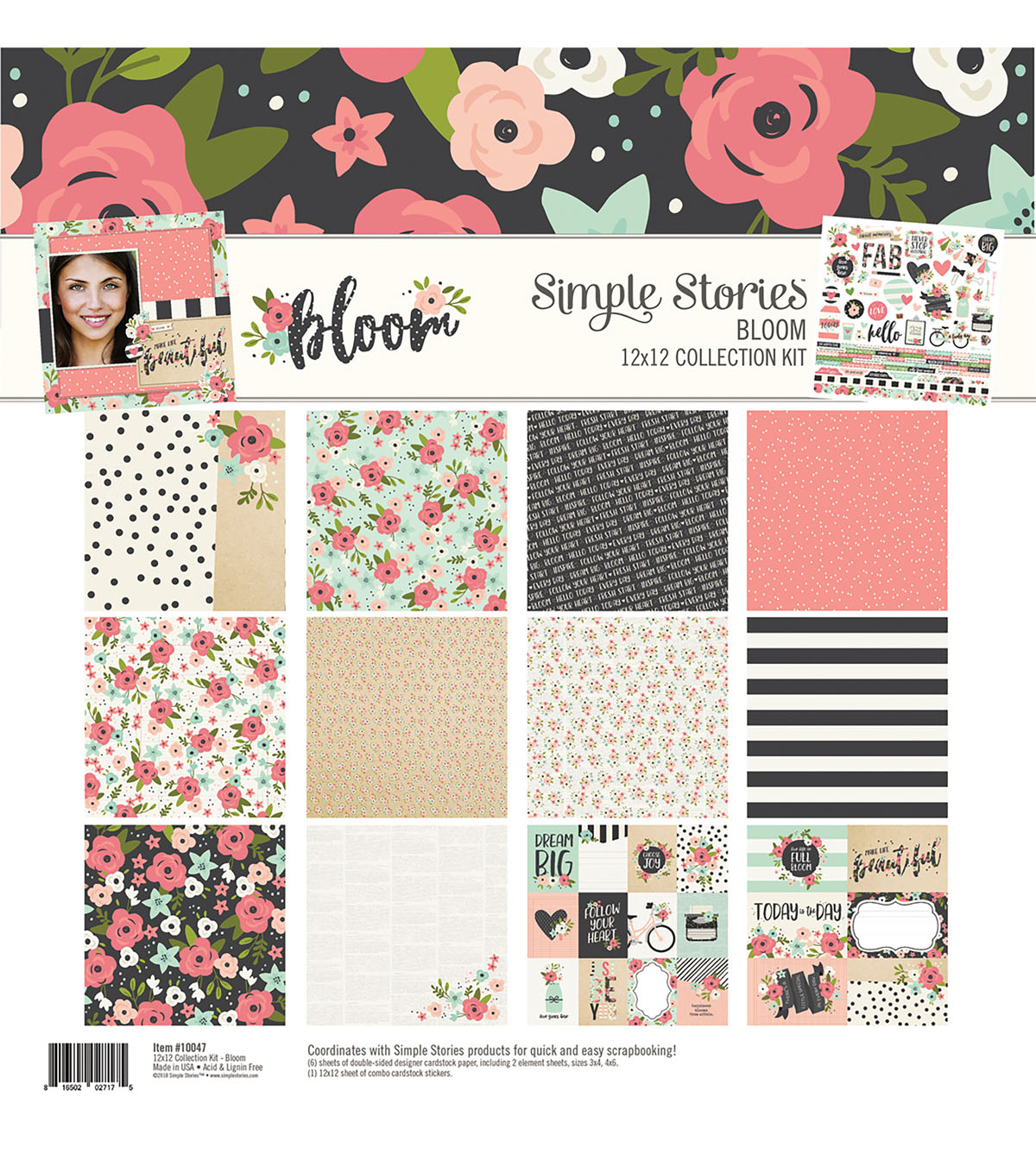 Simple Stories Bloom 12\u0027\u0027x12\u0027\u0027 Collection Kit