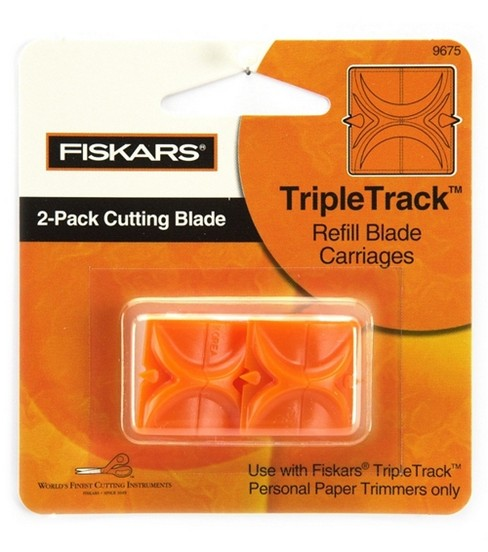 Fiskars Trimmer Replacement Blades-2PK/Straight