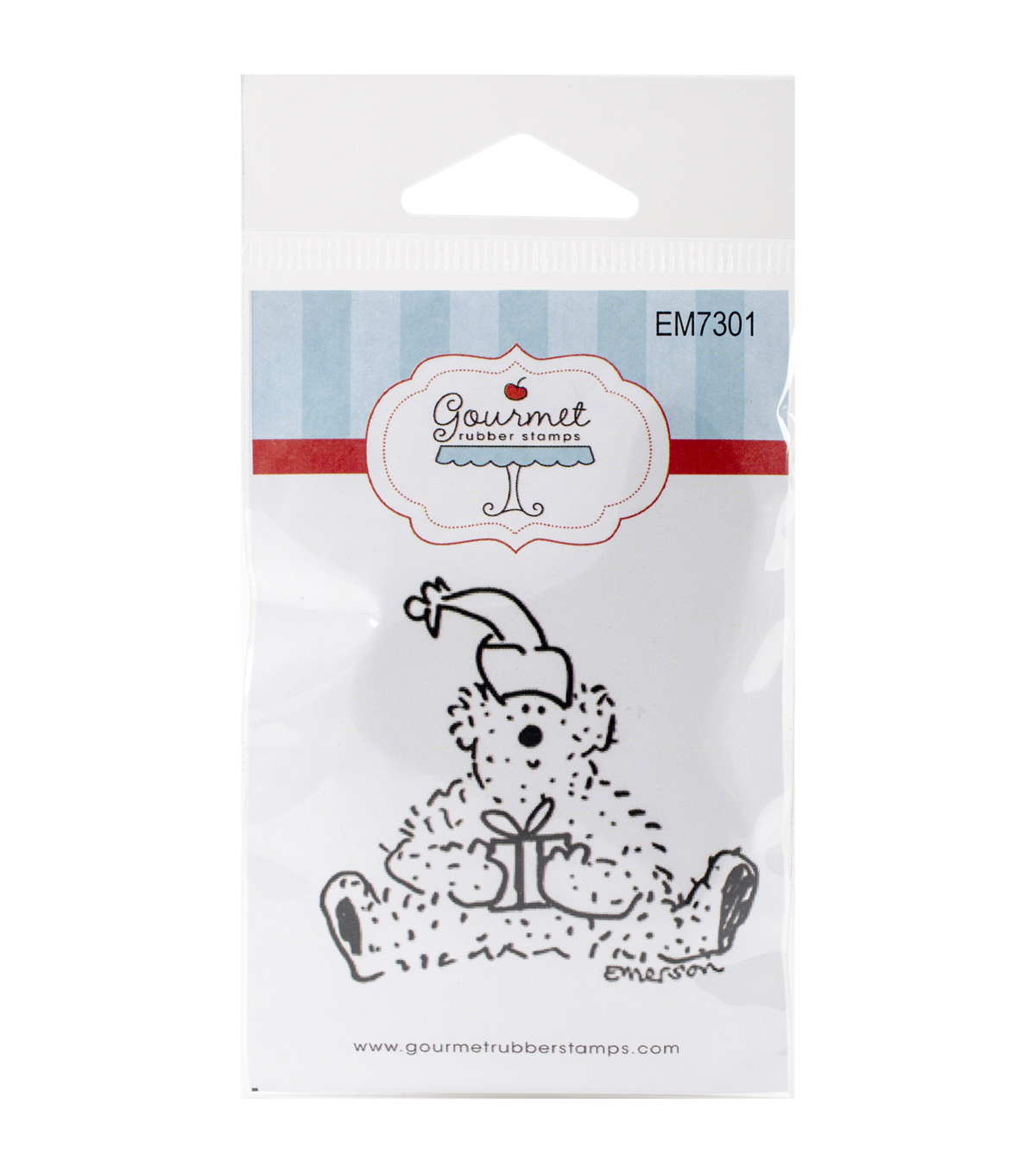 Gourmet Rubber Stamps Cling Stamps-Holiday Bear With Gift