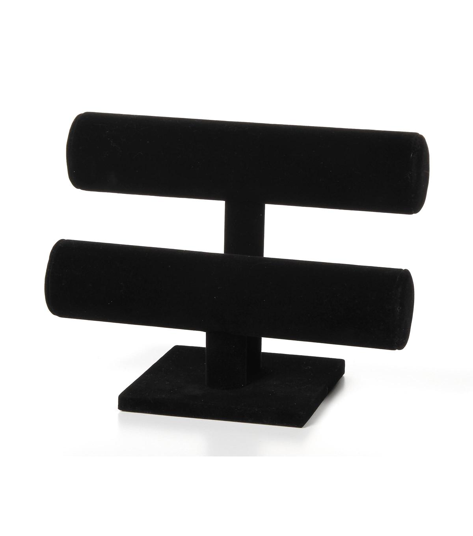 Darice 7 U0027 2 Tier Velvet Bracelet Stand Black