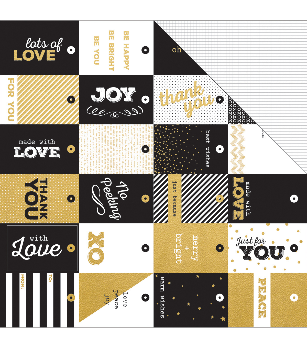 Kaisercraft A Touch Of Gold 12\u0027\u0027x12\u0027\u0027 Double-Sided Cardstock-Extravagant