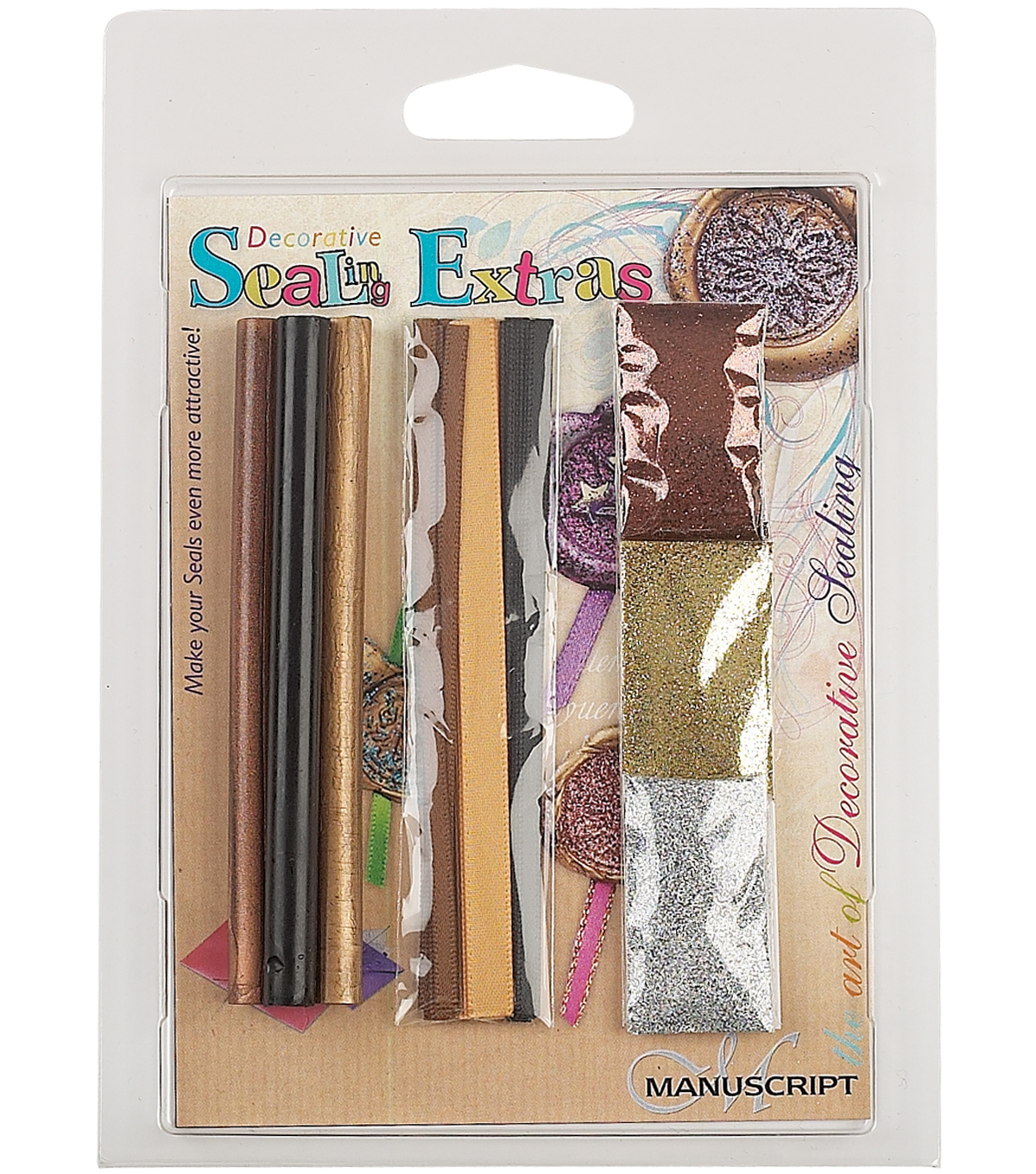 Manuscript Decorative Sealing Extras-Black/Gold