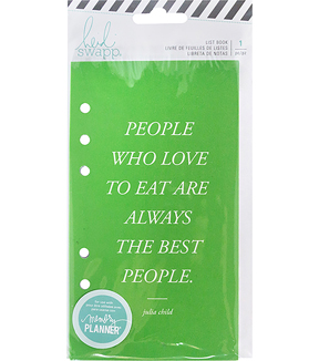 Heidi Swapp Memory Planner List Book-Fresh Start, Food