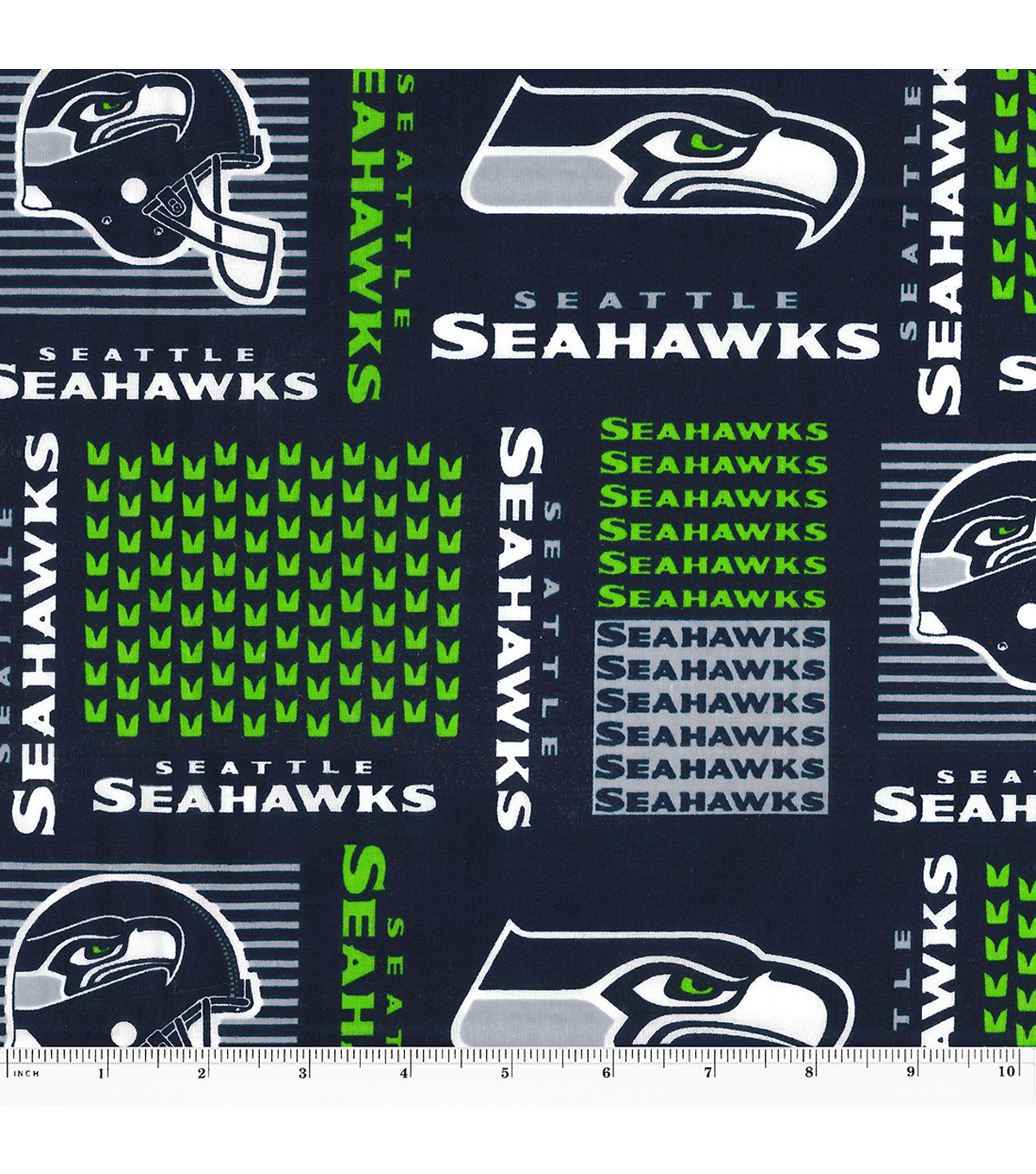 Seattle Seahawks Cotton Fabric -Patch