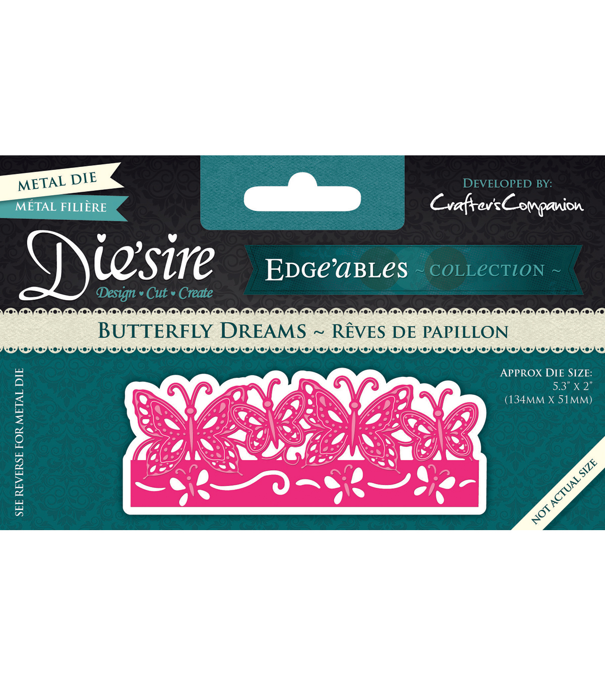 Crafter\u0027s Companion Die\u0027sire Cutting & Embossing Die-Butterfly Dreams