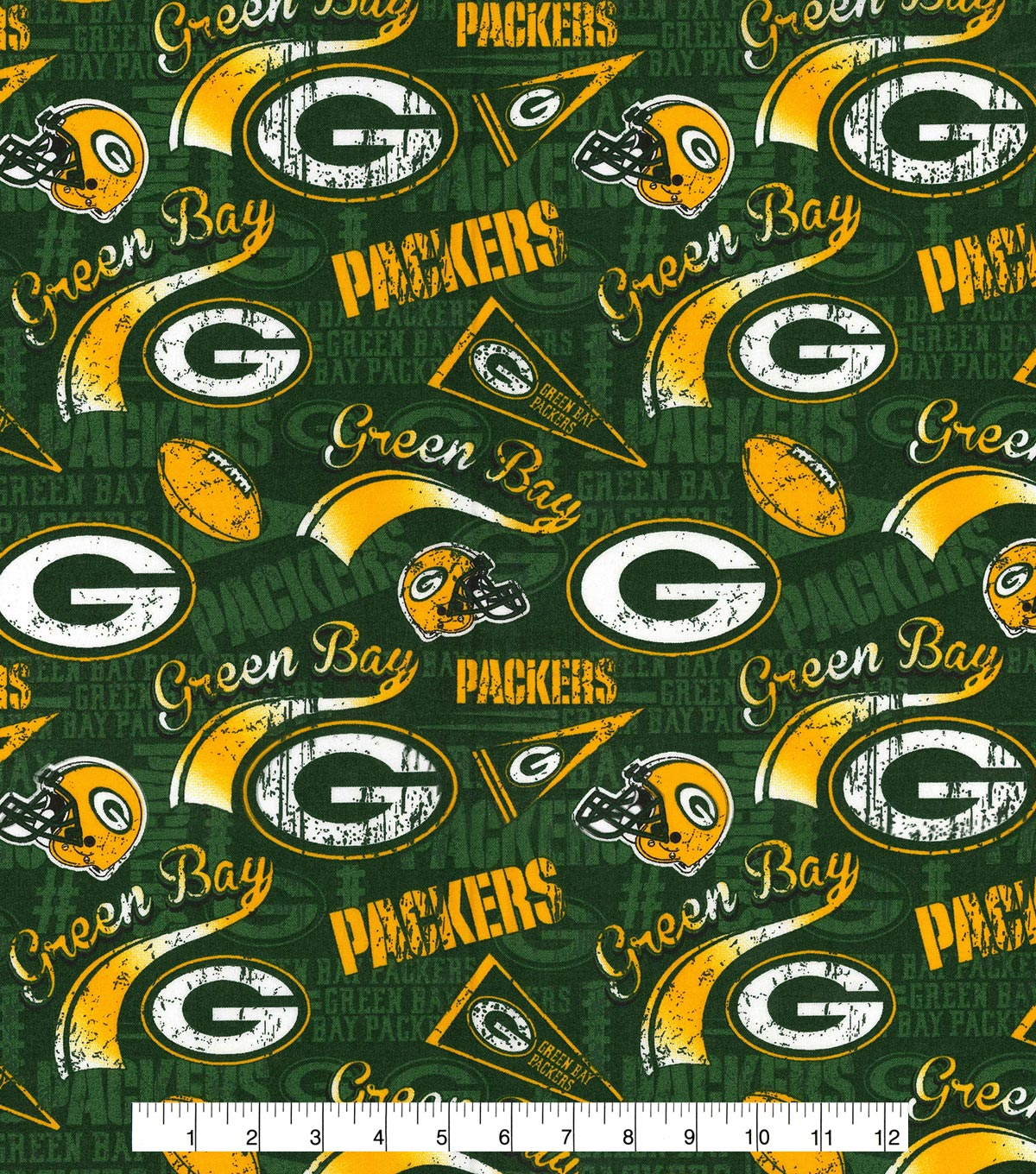 Green Bay Packers Cotton Fabric - Retro  518c49287