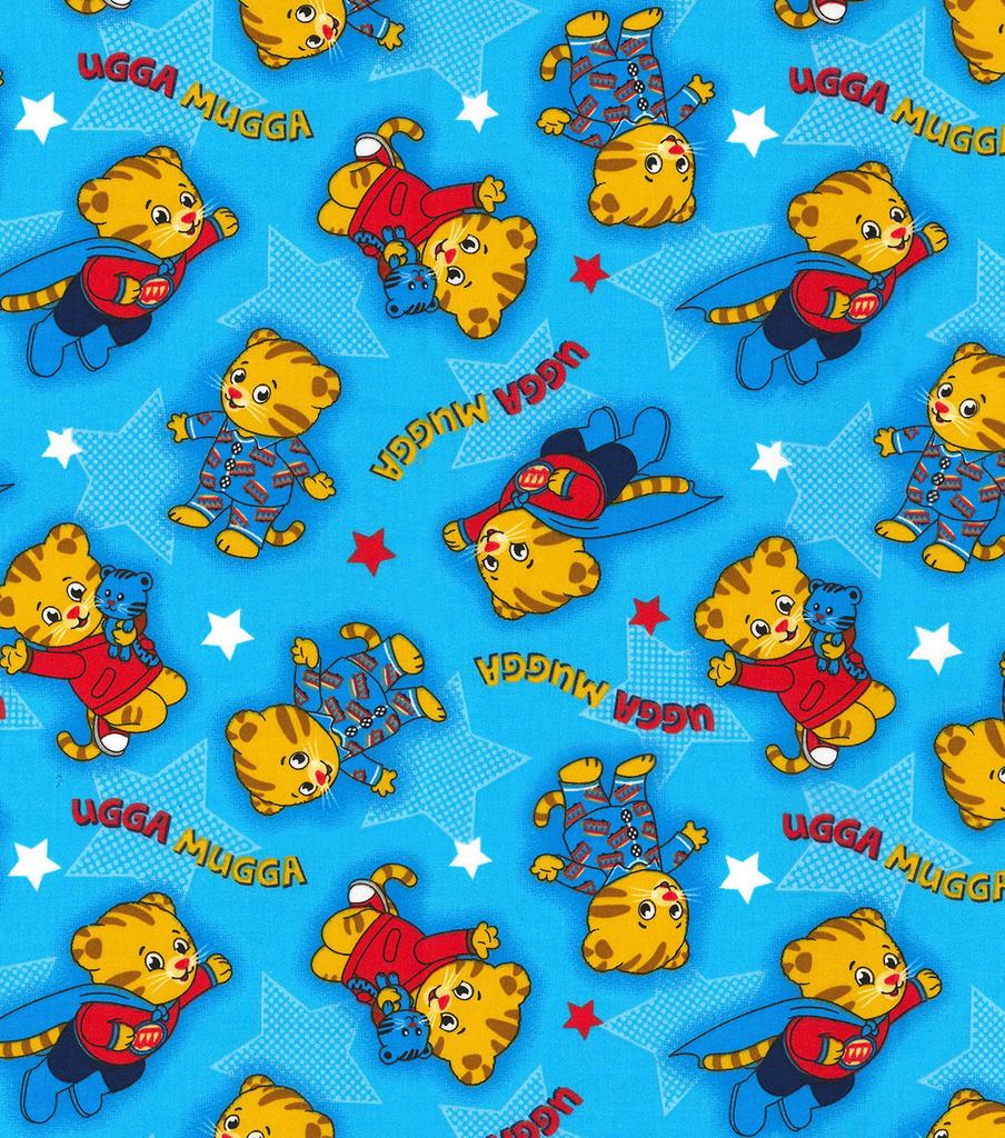 Disney Junior Daniel Tiger Cotton Fabric -Ugga Mugga  ab6a40fdb27