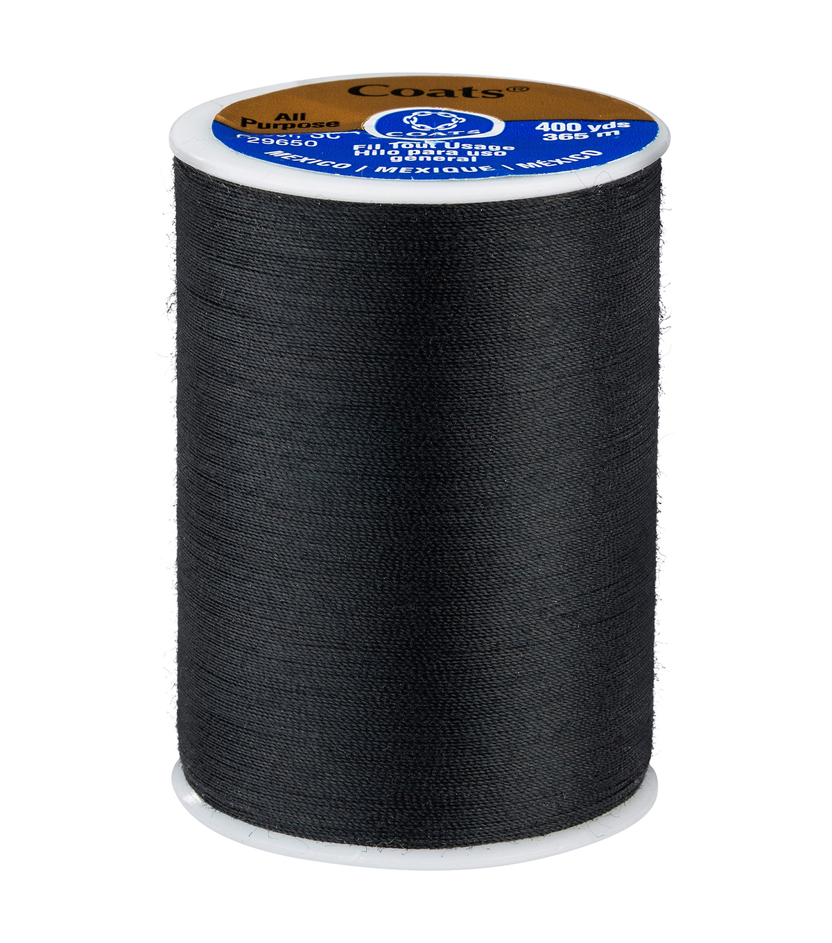 Coats & Clark Dual Duty Thread-400yds, 0002 Black