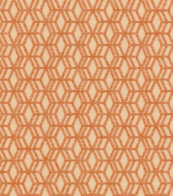 P/K Lifestyles Upholstery 8x8 Fabric Swatch-Turning Point/Persimmon