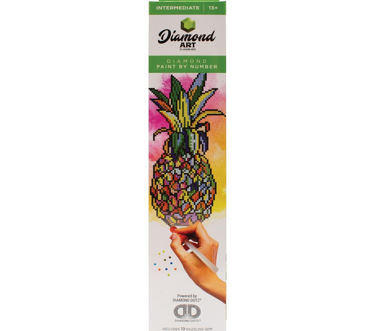Leisure Arts Diamond Art Intermediate Kit 12 X12 Pineapple