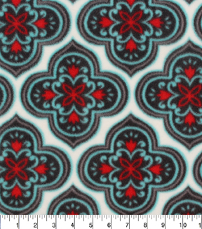 Anti-Pill Fleece Fabric 61\u0022-Marrakesh Medallion