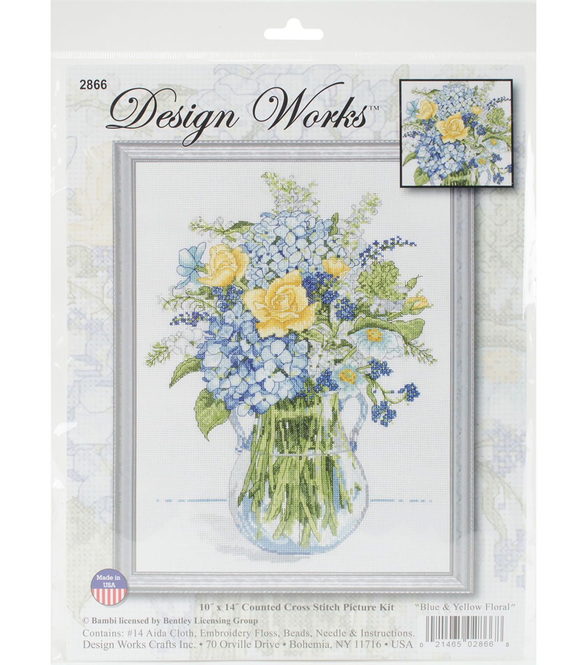 Design Works Crafts 10\u0027\u0027x14\u0027\u0027 Counted Cross Stitch Kit-Floral