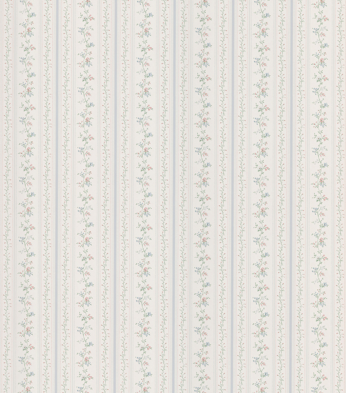 Raechel Light Blue Floral Stripe Wallpaper Sample