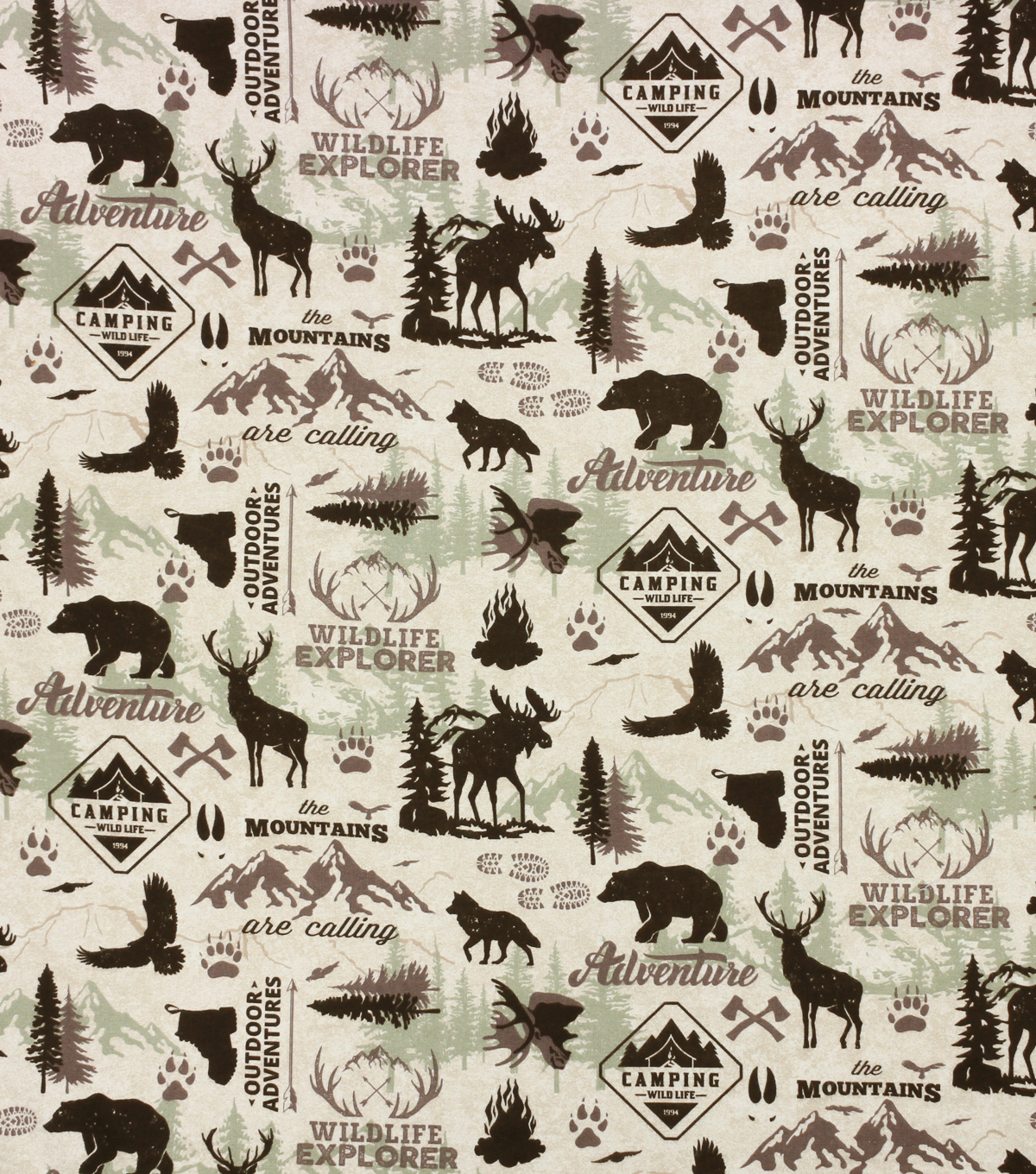 Super Snuggle Flannel Fabric-Wildlife Adventure