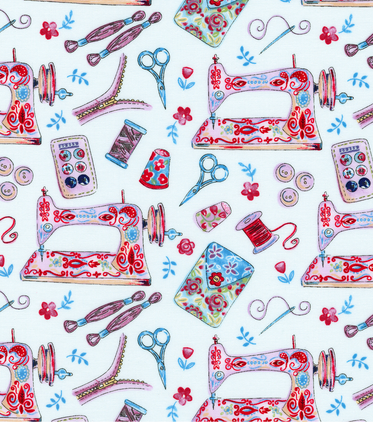 Novelty Cotton Fabric-Sew Charming