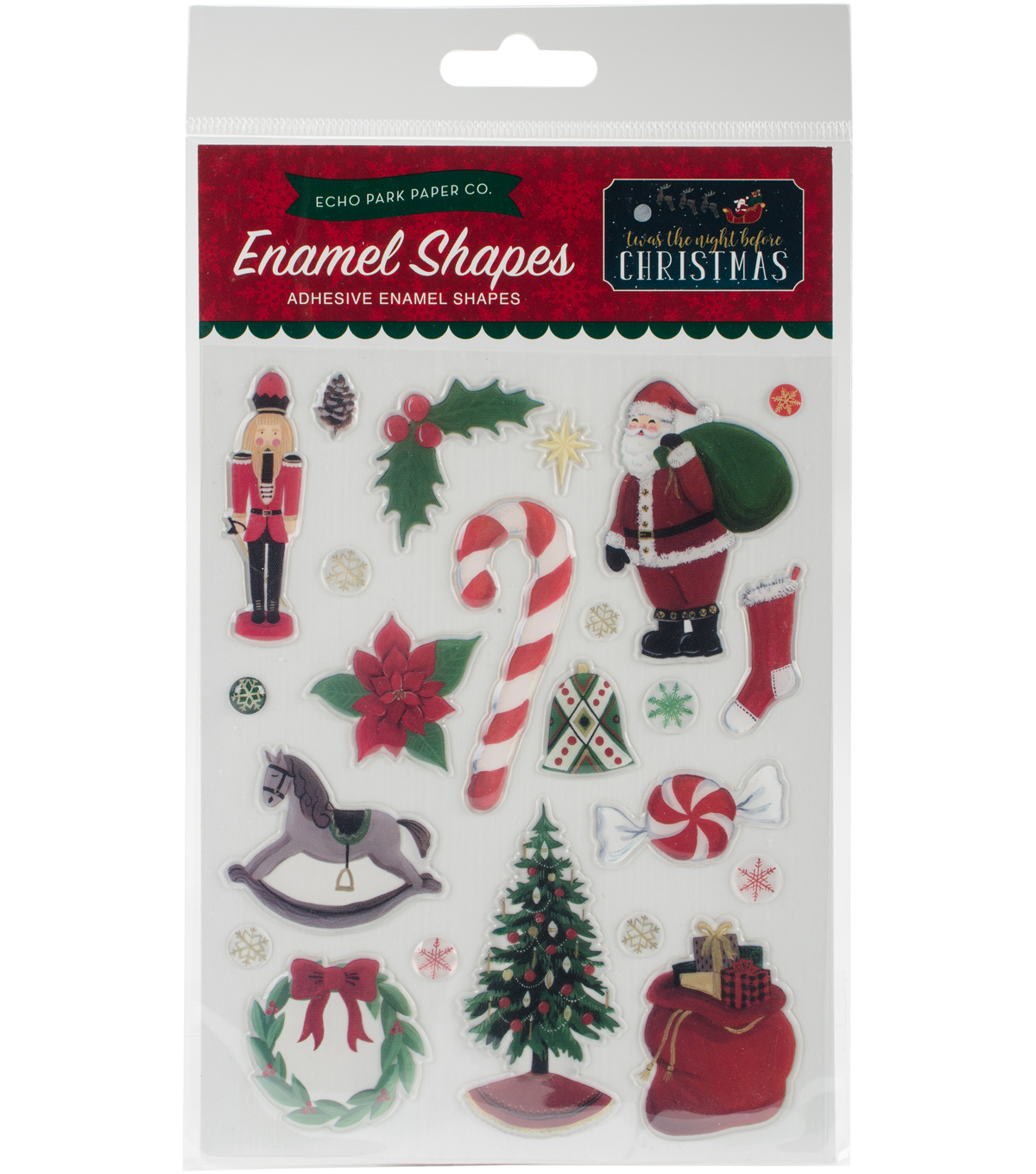 Echo Park Paper Company Twas the Night Before Christmas Enamel Shapes