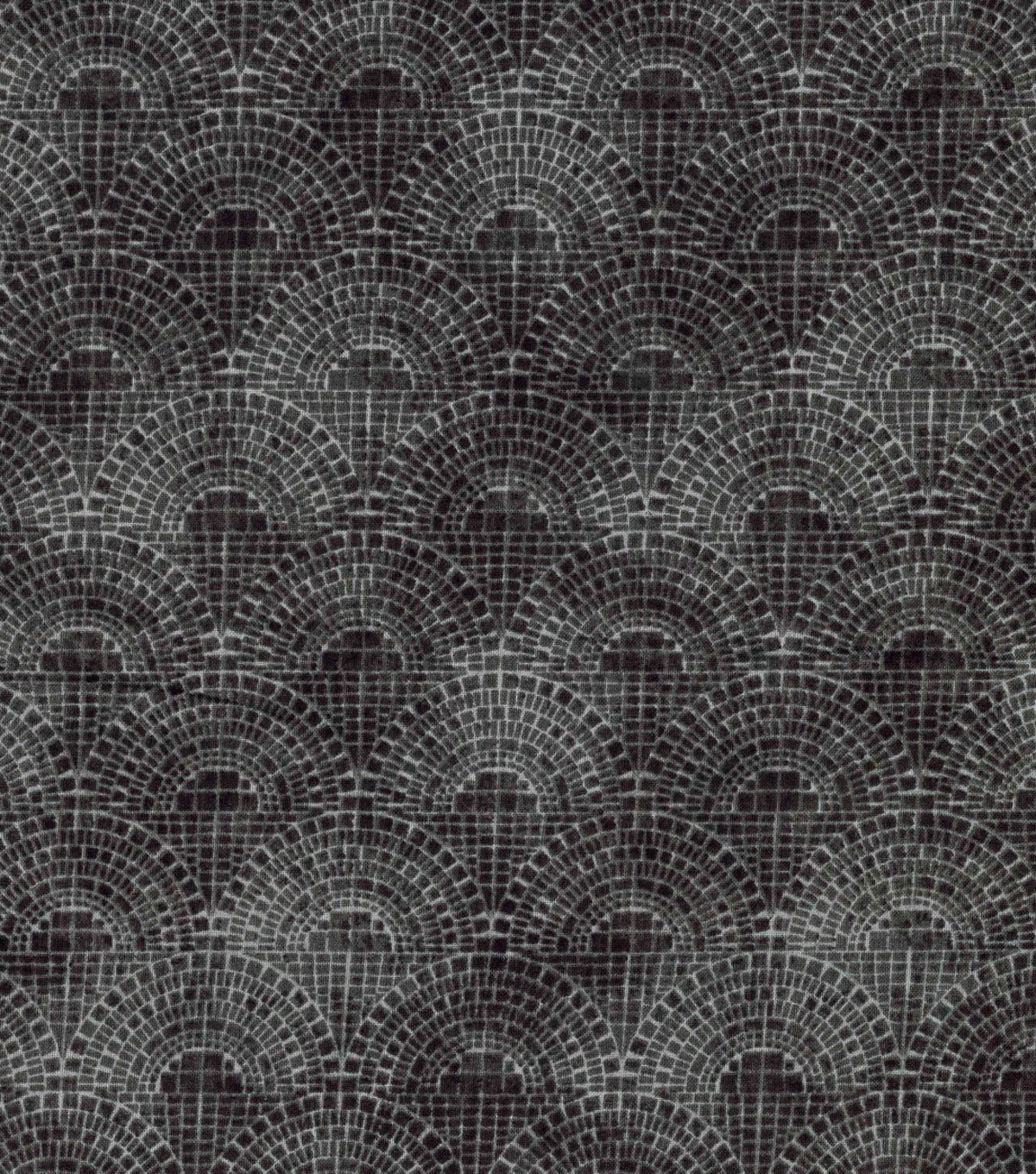 Keepsake Calico  Cotton Fabric-Half Circle Tiles Gray