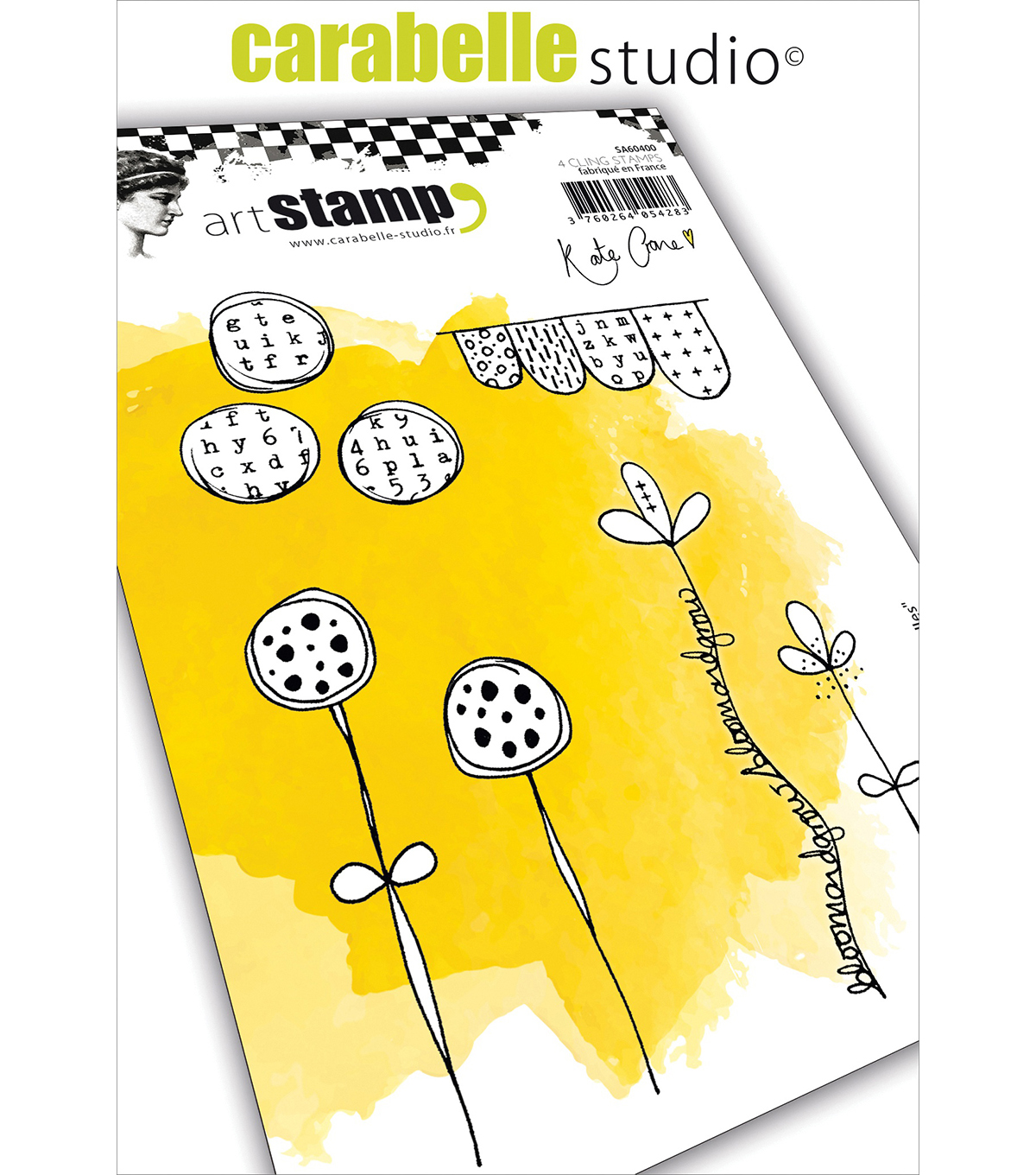 Carabelle Studio Cling Stamp A6 By Kate Crane-Journal Doodles