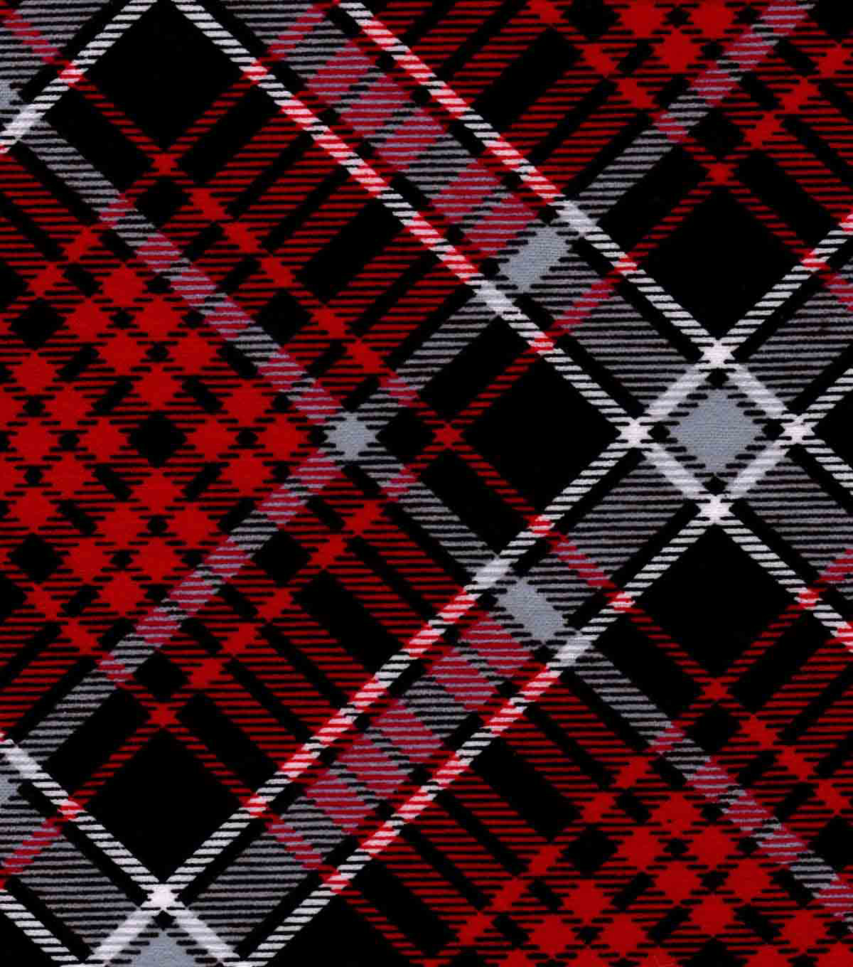 Snuggle Flannel Fabric 42\u0027\u0027-Kate Red & Black Plaid