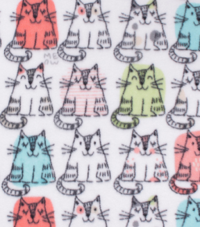 Anti-Pill Plush Fleece Fabric 58\u0022-Sitting Kitties