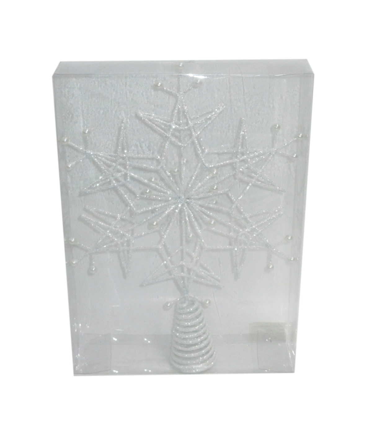 Maker\u0027s Holiday Tree Topper-Arctic Frost Snowflake
