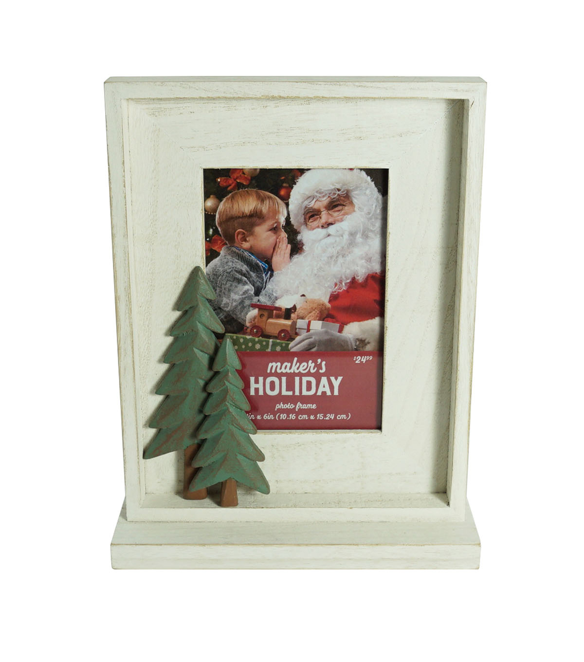 Maker\u0027s Holiday Christmas Single Image Table Frame with Tree 4\u0027\u0027x6\u0027\u0027