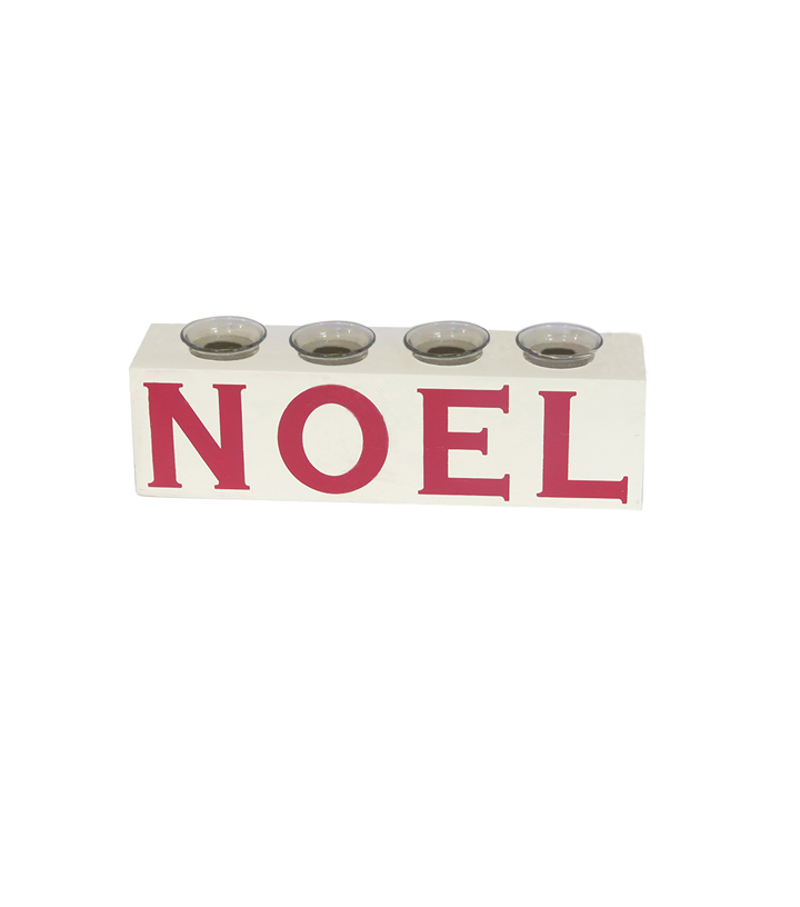Maker\u0027s Holiday Christmas Farmhouse Votive Candles Holder-Noel