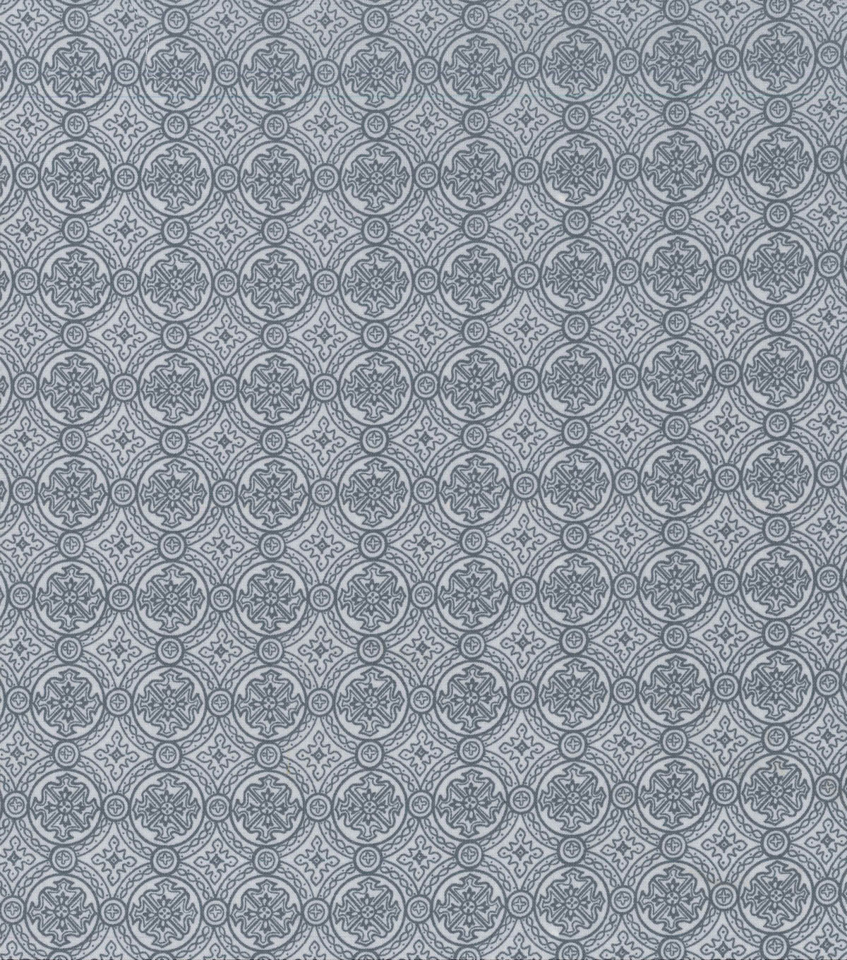 Keepsake Calico Cotton Fabric -Gray Small Medallion