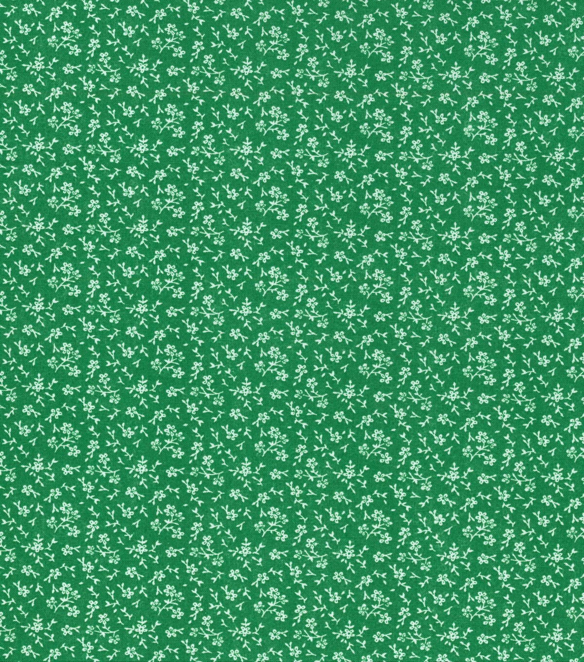 Keepsake Calico Cotton Fabric-Tossed Flowers on Green