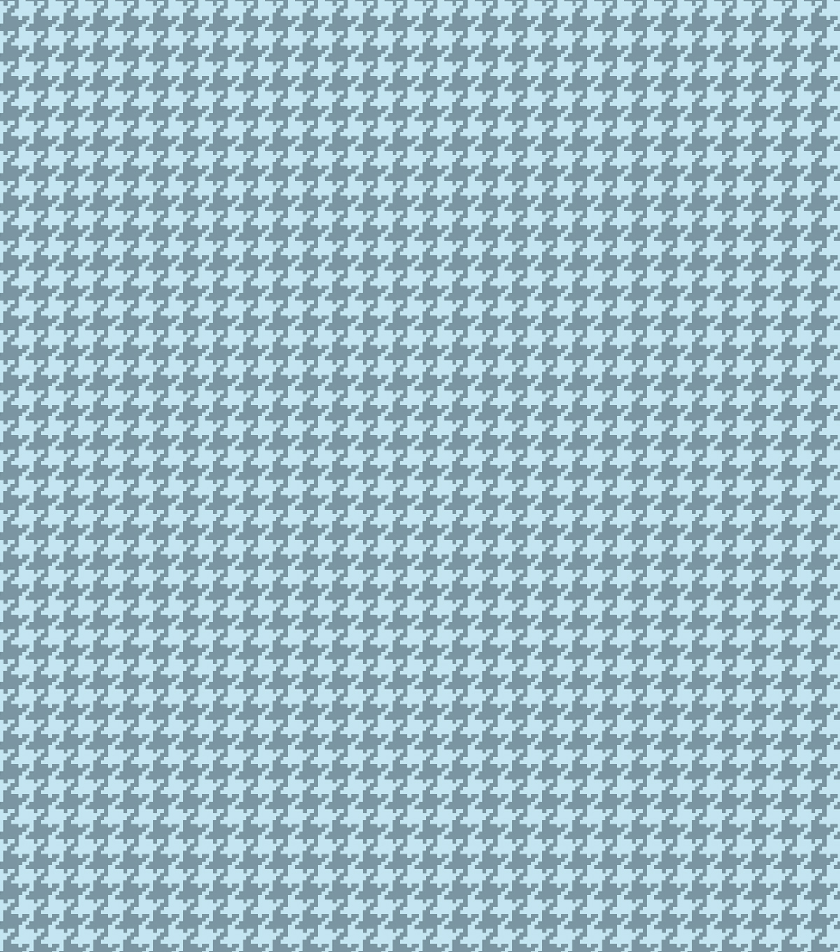 Quilt Block of the Month Coordinating Fabric -Teal Houndstooth