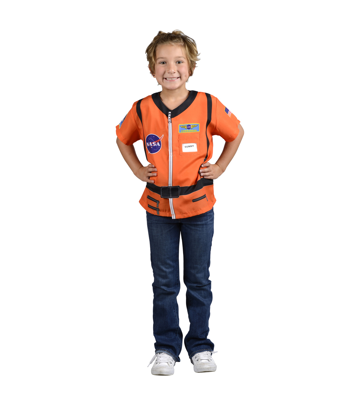 My 1st Career Gear Orange Astronaut Top, One Size Fits Most Ages 3-6