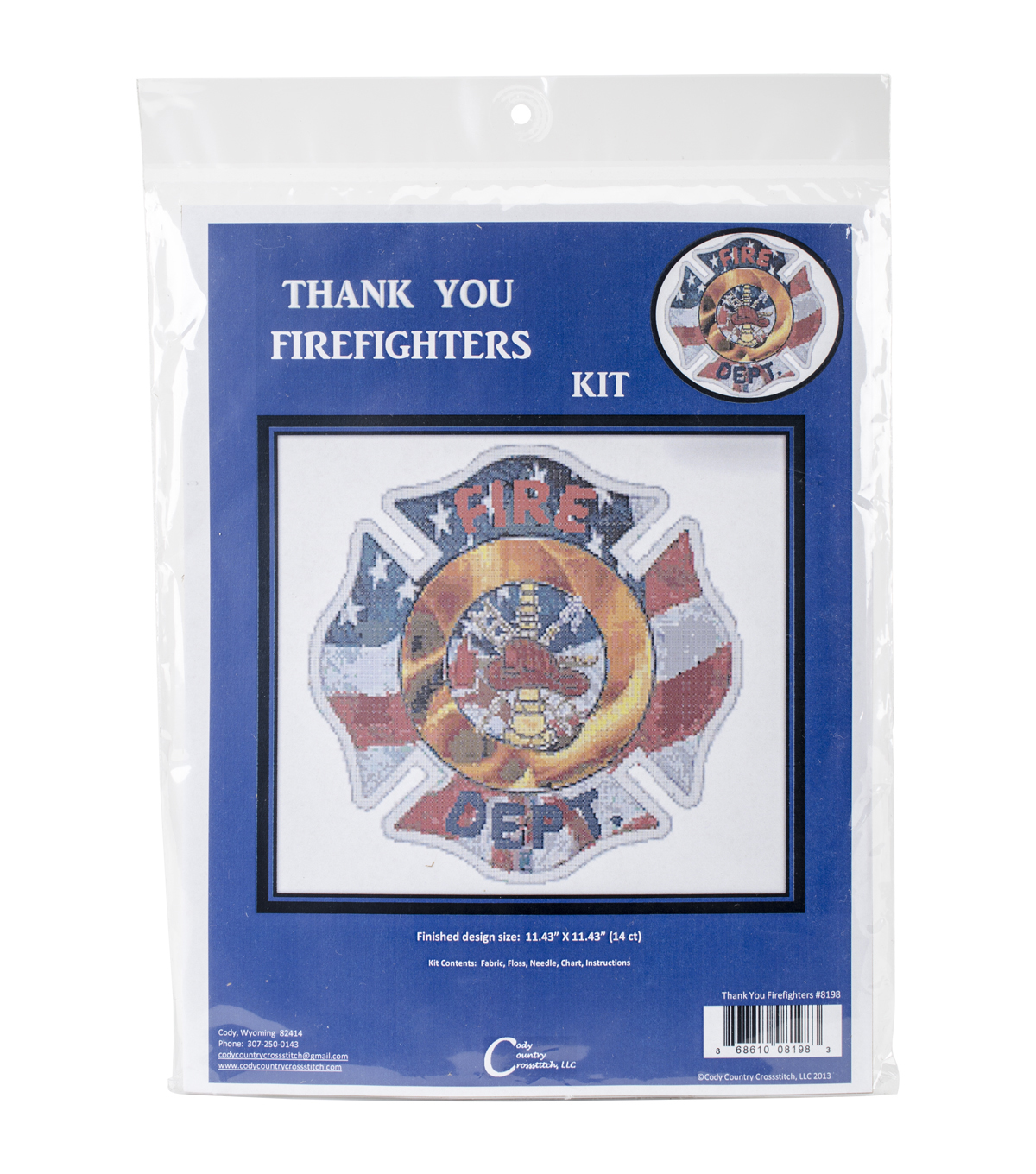 Cody Country Counted Cross Stitch Kit-Thank You Firefighters