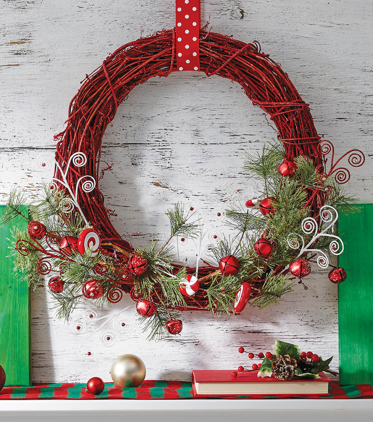 How To Make A Red Candy Wreath