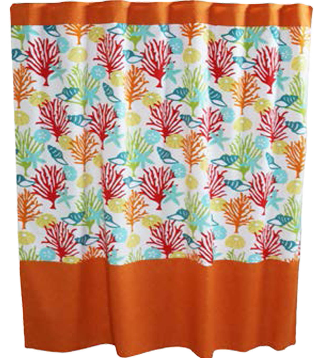 Color Blocked Shower Curtain