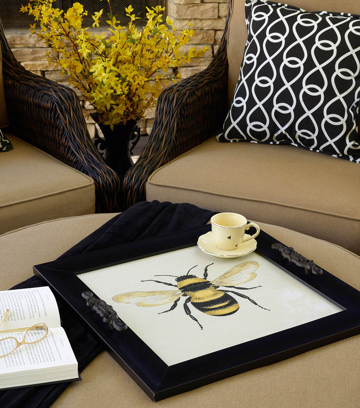 How To Make A Square By Design Decorative Tray Joann