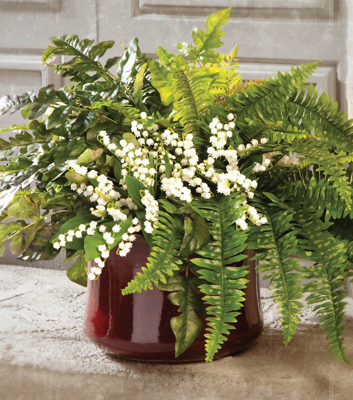 Potted ferns with lily of the valley joann potted ferns with lily of the valley izmirmasajfo