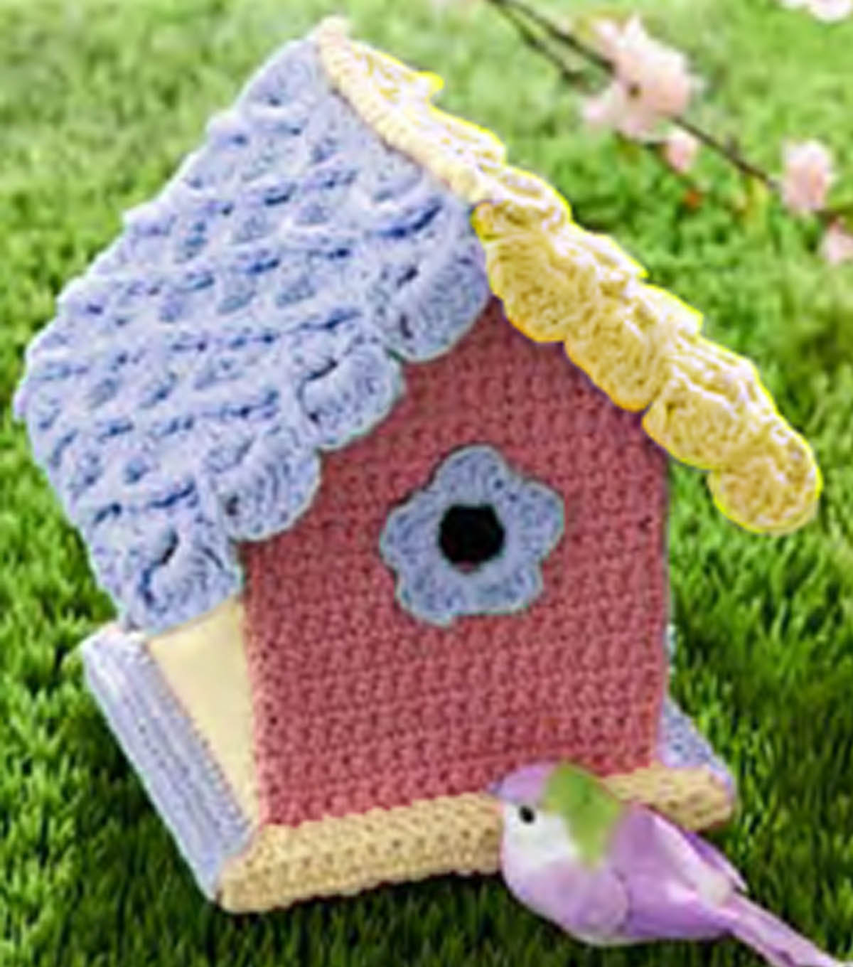 Yarn Bombed Bird House