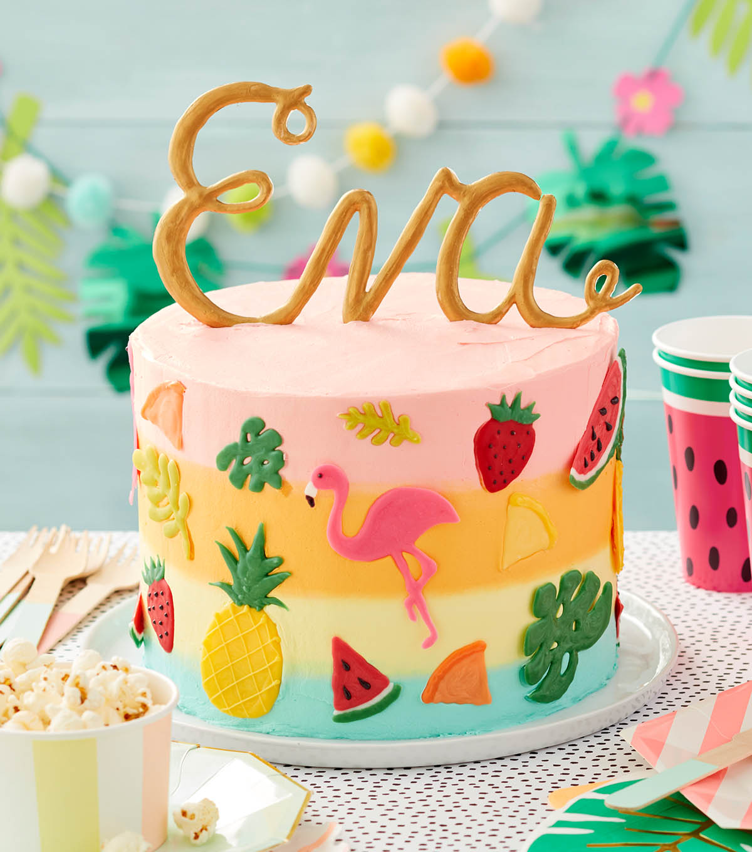Astounding How To Make A Tropical Time Birthday Cake Joann Personalised Birthday Cards Bromeletsinfo