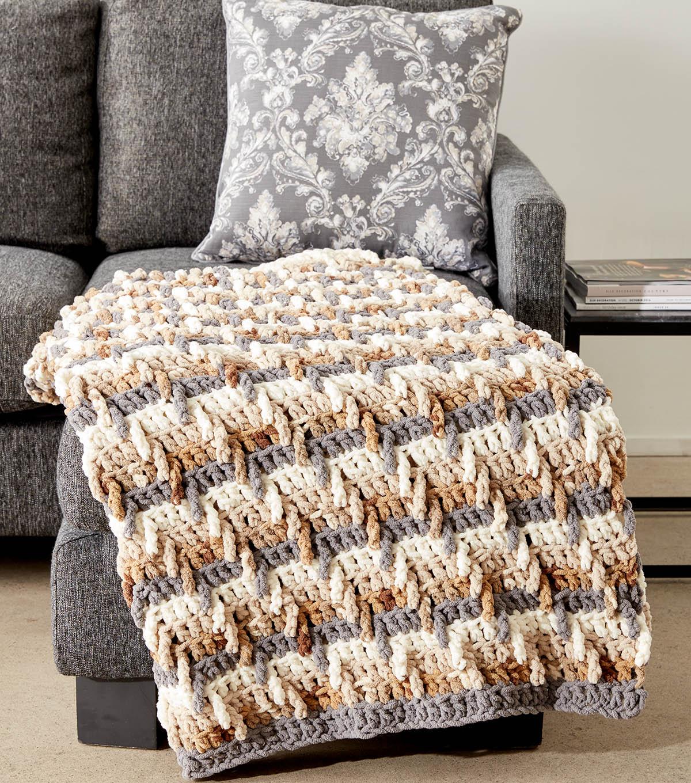 How To Make A Step Ladder Crochet Blanket | JOANN
