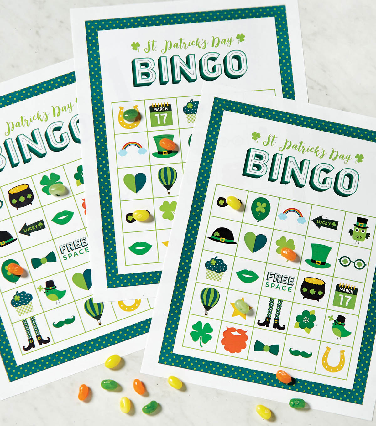 photograph relating to St Patrick's Day Bingo Printable named St. Patricks Working day Viewpoint Fortuitous Bingo Board Printable JOANN