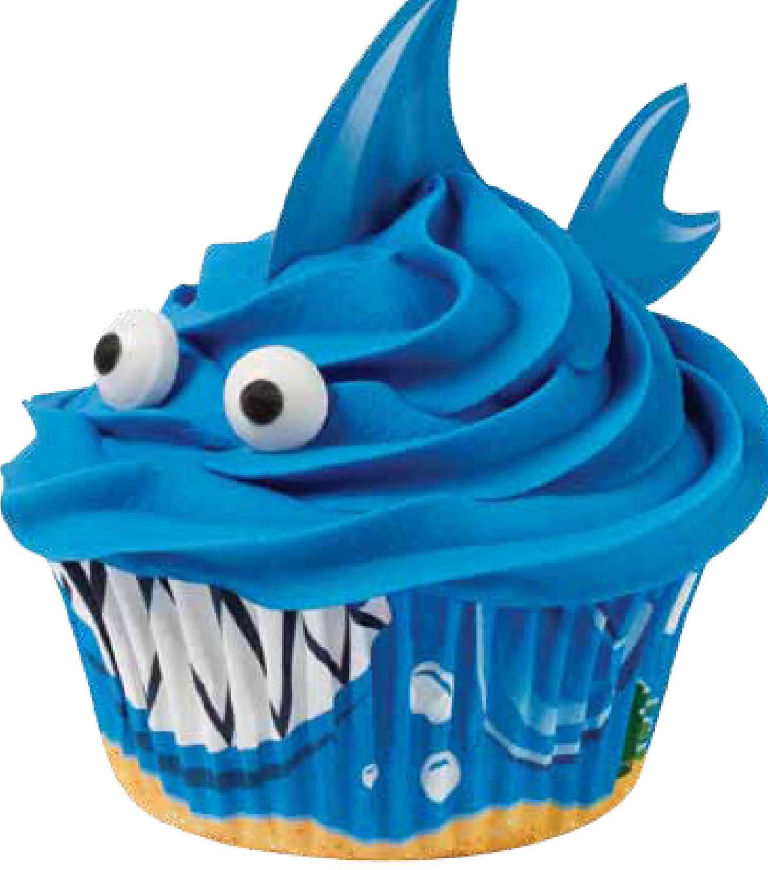 recipe: shark cupcake topper [24]