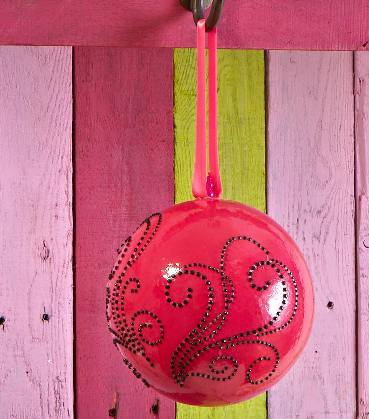 Smooth Ornament with Beaded Embellishments