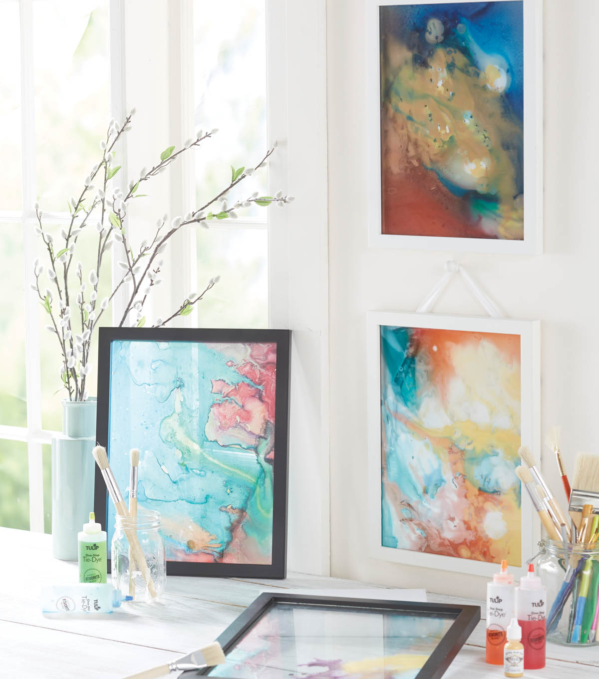 Tie Dye Floating Frame Art