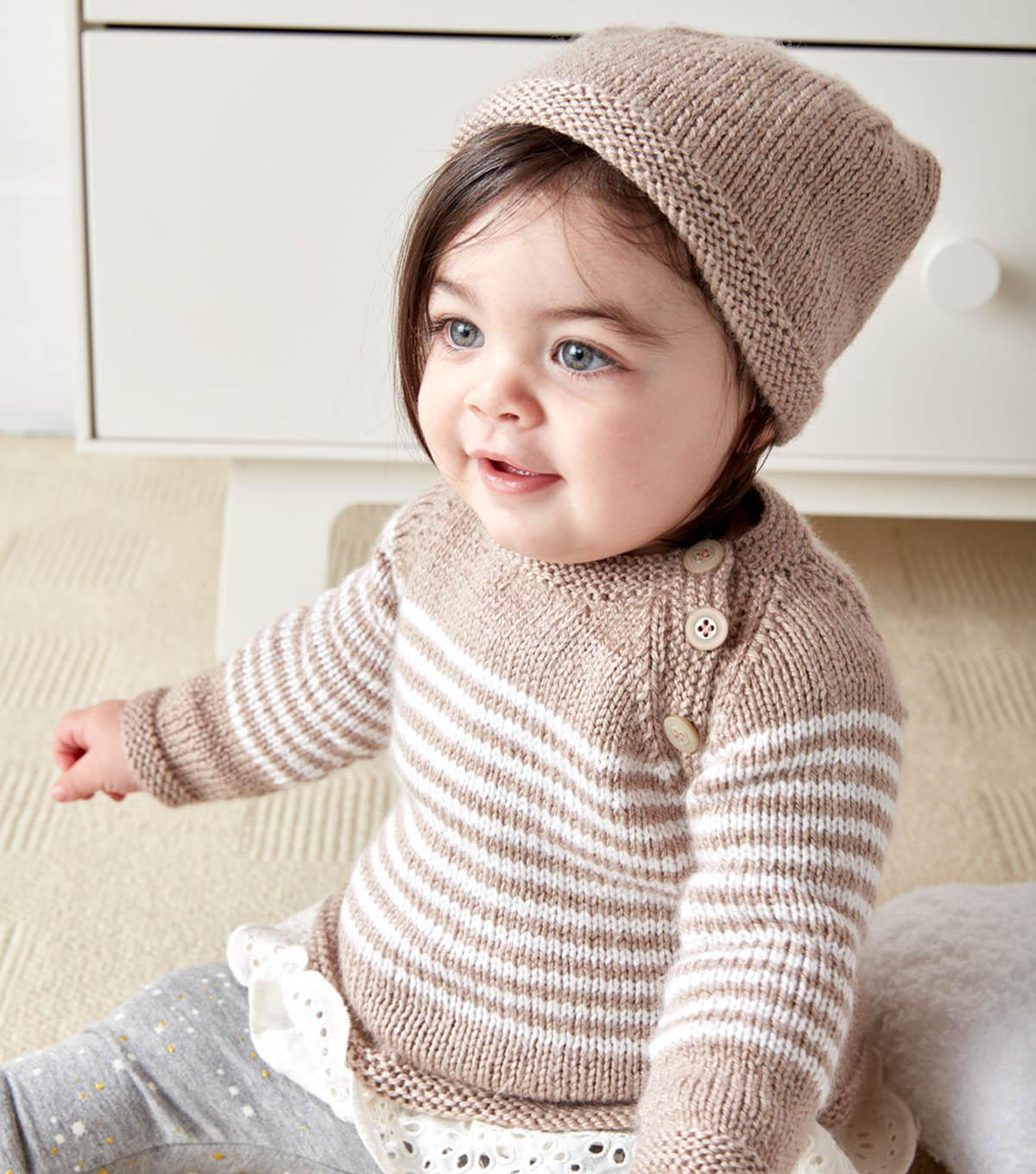 Make A Wee Stripes Knit Pullover and Hat