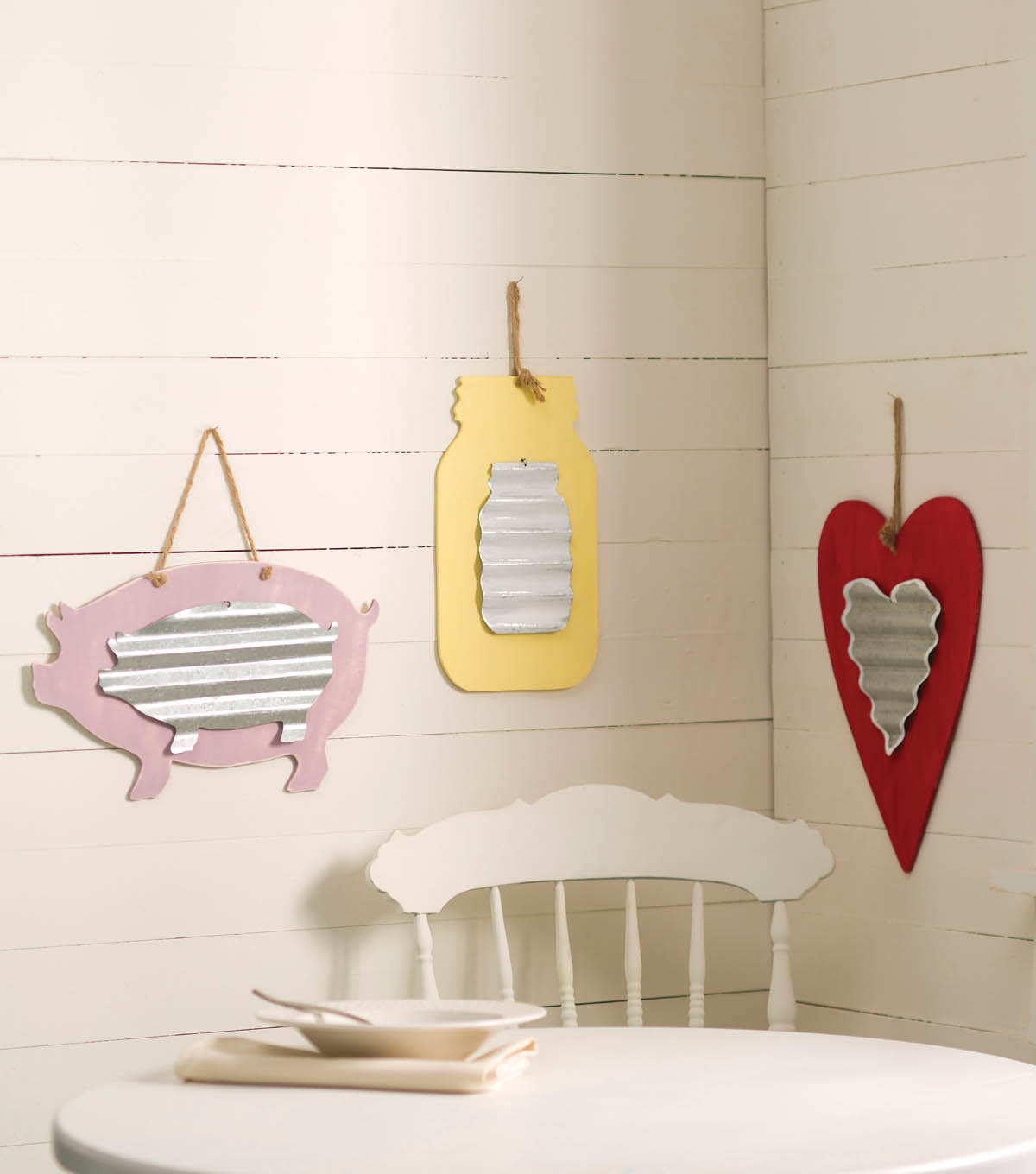 Wood and Metal Home Decor Wood and