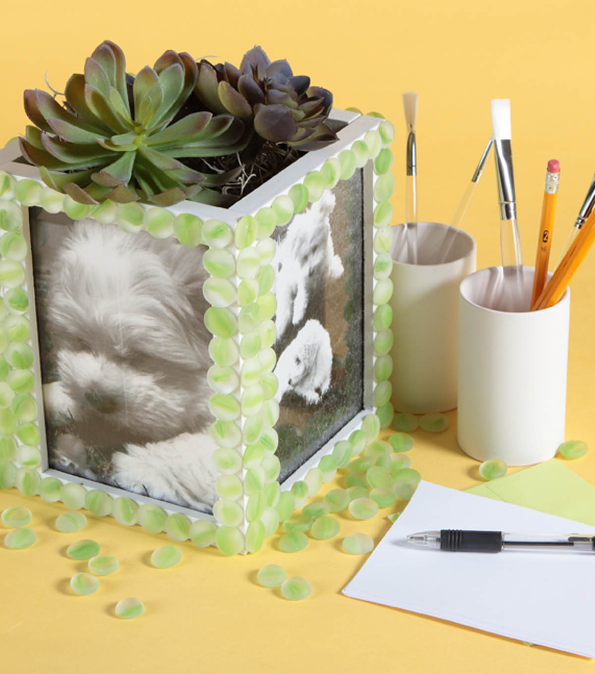 Distressed Wood Tabletop Photo Frame 5x7