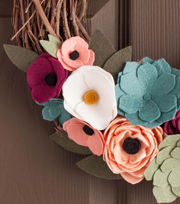 How To Make A Felt Flower Wreath Joann