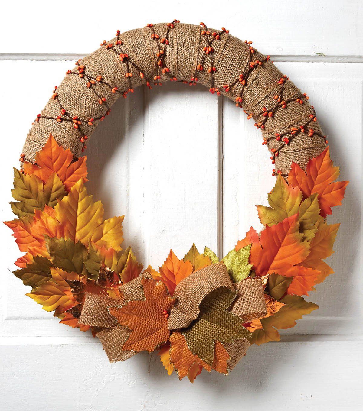 How To Make A Burlap Wrapped Fall Wreath
