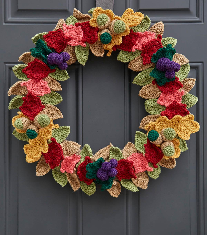 How To Crochet A Fall Crochet Leaves Wreath Joann
