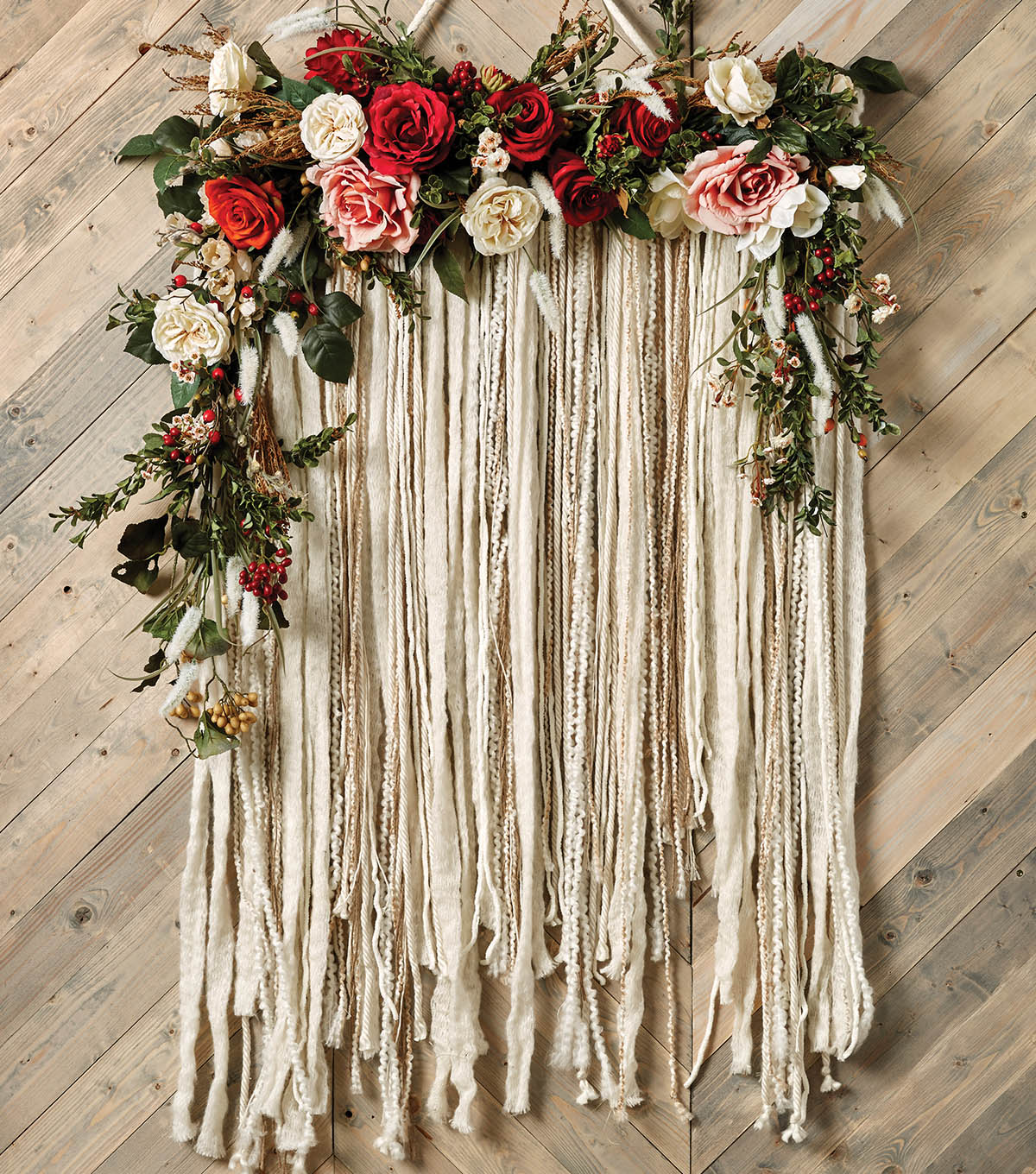 How To Make A Floral Yarn Wall Hanging Joann